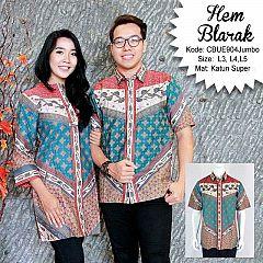 Kemeja Batik Pendek Blarak Jumbo 9104