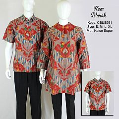 Kemeja Batik Pendek Blarak Lengan Panjang
