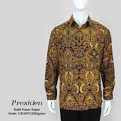 Kemeja Batik Presiden Motif Pisang Bali