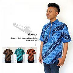 Kemeja Modern Batik Katun Primis Cap Warna