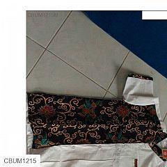 Koko Batik ABG Kombinasi Putih
