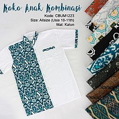 Koko Batik Anak Kombinasi