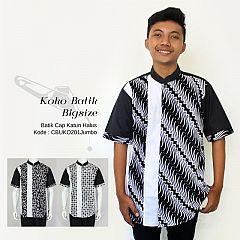 Koko Batik Ayodia Klasik Hitam Bigsize