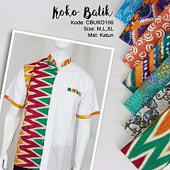 Koko Batik Katun Motif Abstrak