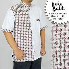 Koko Batik Katun Motif Kawung Mata