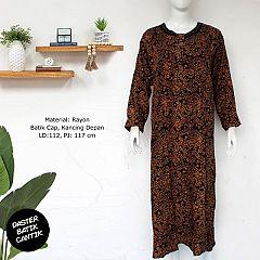 Longdress Batik Abaya Cap Sogan