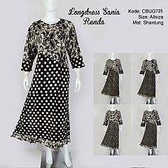 Longdress Sania Renda Batik Kombinasi