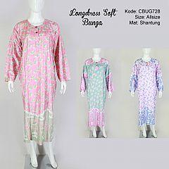 Longdress Shantung Jumbo Bunga Soft