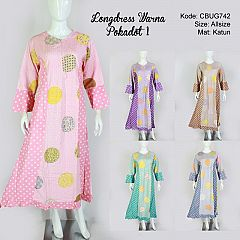 Longdress Warna Pokadot 1