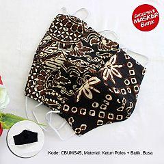 Masker Batik Sogan 3 layer Earloop