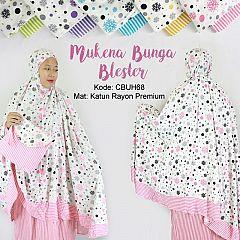 Mukena Rayon Bunga Blester