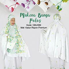 Mukena Rayon Bunga Polos