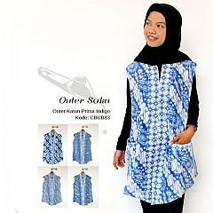 Outer Batik Indigo Saku