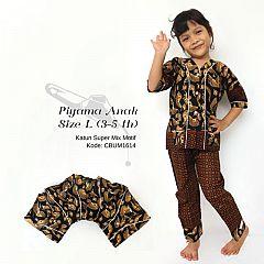 Piyama Anak Batik Katun Size L