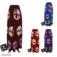Rok Batik Kaos Katun Motif Jumputan Warna