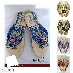 Sandal Batik Jogja Jepit 3 Tali Sendok