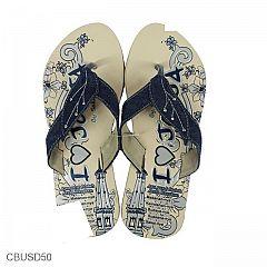 Sandal Jeans Motif Kembang Tugu Jogja