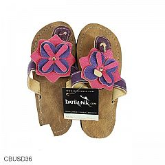 Sandal Spoon Anak Vinyl Cokelat Kembang