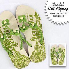 Sandal Tali Kepang Bunga Tiga