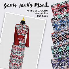 Sarimbit Gamis Family Motif Manik Tentakel