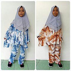 Set Piyama Anak Rayon Palet Cantik (9-12 th)