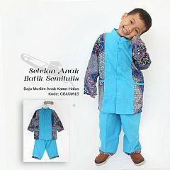 Setelan Baju Muslim Batik Anak Cowok dan cewek