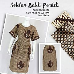 Setelan Batik Pendek Motif Klasik