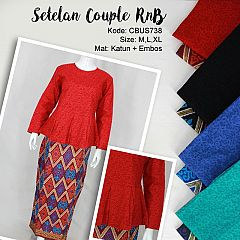 Setelan Couple Family RnB Motif Songket