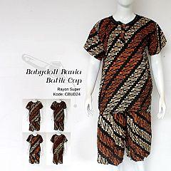 Setelan Gogo Babydoll Batik Cap Sogan Parang Seling