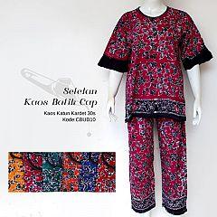 Setelan Kaos Batik Halus Dewasa