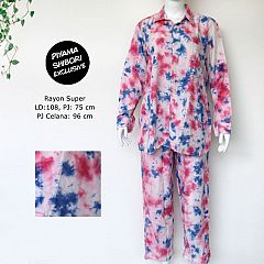 Setelan Shibori Celana Blouse Cantik
