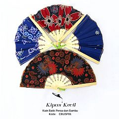 Souvenir Kipas Batik Perca Kecil Mix Motif