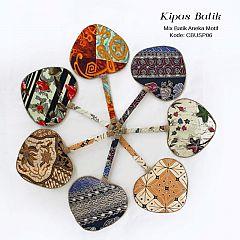Souvenir Kipas Batik Love Mix Motif Batik Kontemporer