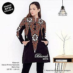 Tunik Batik Blarak AHY HItam