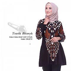 Tunik Batik Blarak AHY 2 Putih