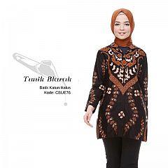 Tunik Batik Blarak Motif Lancip Coklat
