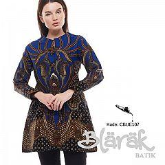 Tunik Batik Blarak Motif Padimas Biru