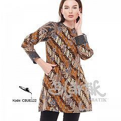 Tunik Batik Blarak Motif Lereng Kuning