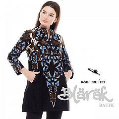 Tunik Batik Blarak AHY 4 Hitam Biru