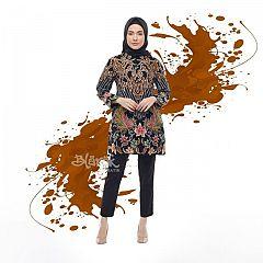 Tunik Batik Blarak Mega Dharya Hitam