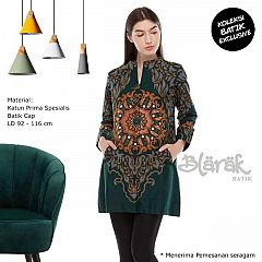 Tunik Batik Blarak Hyang Waton Hijau
