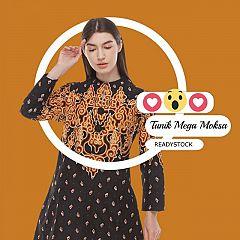 Tunik Batik Blarak Mega Moksa Orange