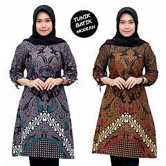 Tunik Batik Katun Motif Seno Mahkota