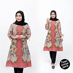 Tunik Batik Katun Motif Cantik