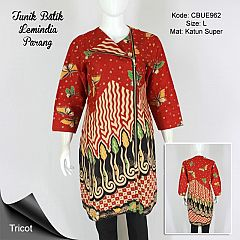 Tunik Batik Trikot Lemindia Batik Parang Kupu