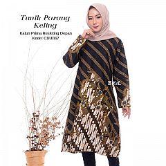 Tunik Batik Resleting Parang Keling
