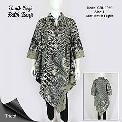 Tunik Batik Trikot Segi Motif Banji