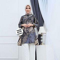 Tunik Batik Terbaru Motif Cantik Biru