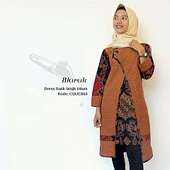 Tunik Dress Batik  Blarak Coklat 9029