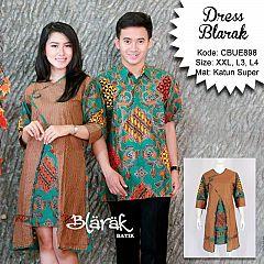 Tunik Dress Batik Jumbo Blarak Hijau 9029